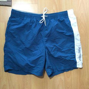 Nautica Swim Shorts Trunks Mesh Lining Logo